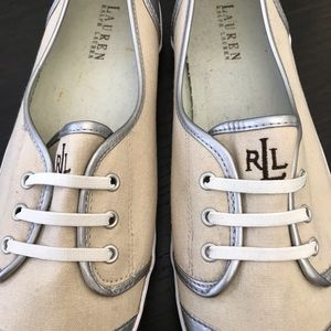 "Ralph Lauren ""Estella"" Monogram Sneakers"